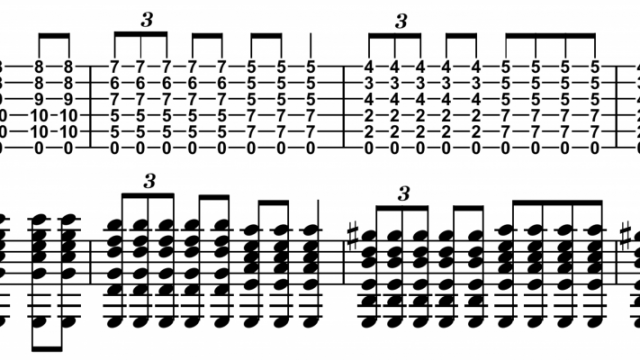 Guitar guitar chords notation : Reference for Guitar Chord Notation on the Staff