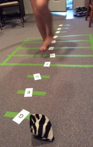 Staff Line Hopscotch