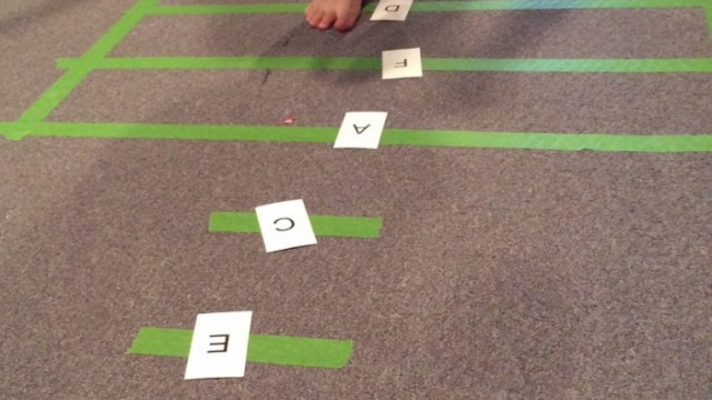 Staff Line Hopscotch and the Circle of Thirds