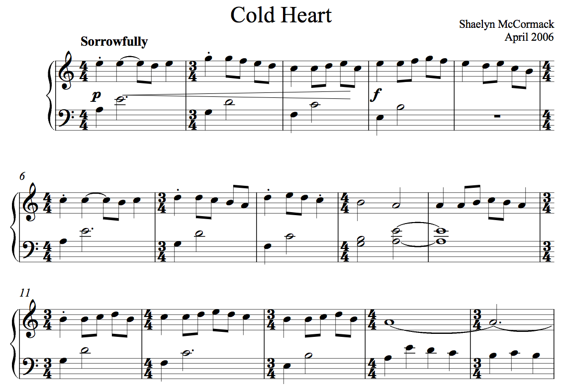 Cold Heart, Shaelyn McCormack